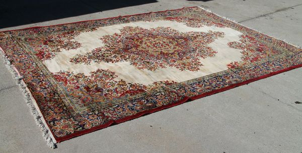 Large Fringe Carpet Rug