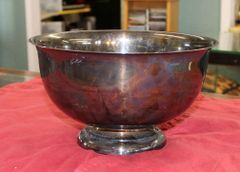 Paul Revere Reproduction Pedastal Silver Plate Bowl