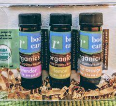 Organic essential oil sampler set of 3