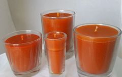 Orange-patchouli candles