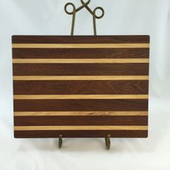 Large Sapele and Maple Cutting Board