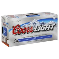 Coors Light - 18 pack cans