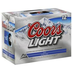 Coors Light - 12 pack cans 12oz.