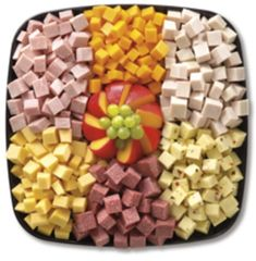 Bite-sized cubes of Meats & Cheeses (feeds 8-12)
