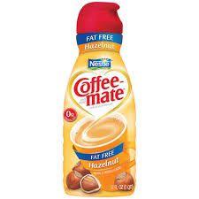 Nestle Coffeemate Fat Free Hazelnut Liquid Creamer