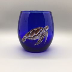 Sea Turtle on Cobalt Tumbler