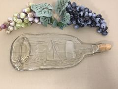 Sailboat, Recycled Wine Bottle Serving Tray