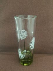 Dandelion Painted Shot Glass