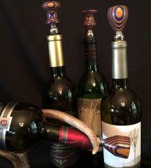 Blue and Orange Wine Stopper