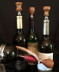 Orange and Black Wine Stopper