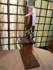 Copper Whiskey Tower with Antler Handle