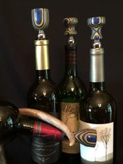 Blue and Gold Wine Stopper