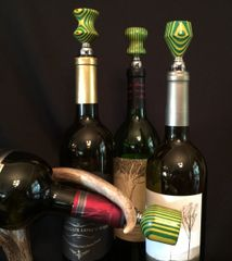 Green and Gold Wine Stopper
