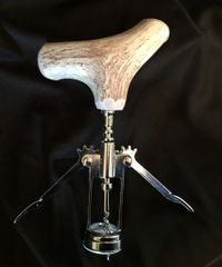 Whitetail Deer Antler Corkscrew