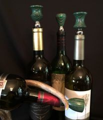 Green and Grey Wine Stopper