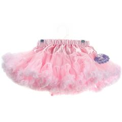 Tutu skirt with satin style waist in pink