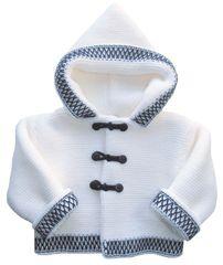 White double knit cardigan