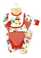 Lily & Jack Cotton 5 Piece Layette set - Lorries and Cars