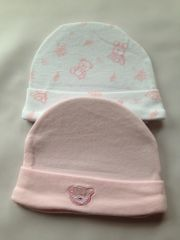 Tiny Baby Premature Baby Hats pack of 2. Available in Pink or Blue