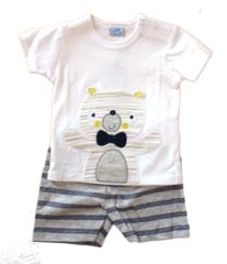 Rock-A-Bye Baby Teddy T-shirt and shorts set.