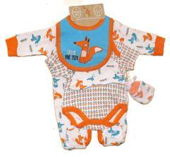 Lily & Jack super cute Hello Mr Fox 5 piece baby layette set. Newborn, 0-3mths and 3-6mths