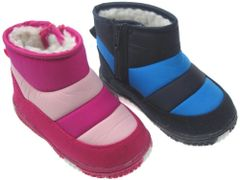 Soft Touch Waterproof Snow Boots in Two-Tone Pink or Blue