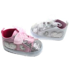Soft Touch Ribbon and Glitter pram shoe