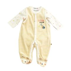 Babaluno unisex velour dungeree and bodysuit set. Available to fit Newborn to 6 months.