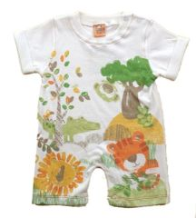 Cheeky Chimp Animal Jungle Romper for Baby Girl Boy.