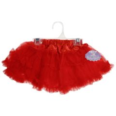 Tutu skirt with satin style waist in Red
