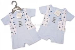 Nursery Time Little Sailor Baby Boy Cute Romper. Available for ages Newborn to 6 Months