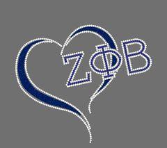 Love Zeta Phi Beta Heart