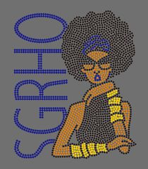 Sigma Gamma Rho Afro w/body