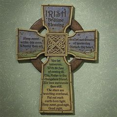 Wall Decor - Irish Bedtime Blessing Cross