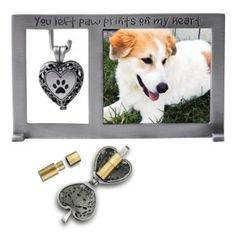 Frame - Pet Memorial with Ash Urn Locket - Cathedral Art PF404