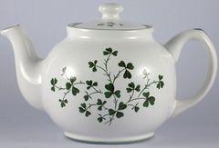 Teapot - Large with Shamrocks