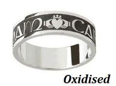 Ring - Mo Anam Cara - Gaelic My Soul Mate - Gents - Silver - Boru #WED184