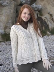 Sweater - Lace Knit Cardigan - West End #X4268