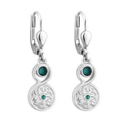 Earrings - Celtic - Lever Back - Rhodium Plated - S33604R
