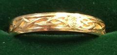 Ring - Celtic Wedding Band - Size 6 1/2 - J&Z Blackman
