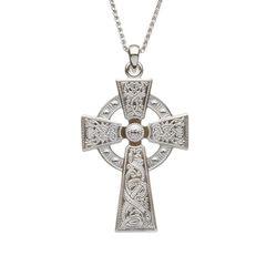 Necklace - Pendant - Warrior Shield Celtic Cross - Boru WC3