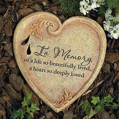 Garden Stone - In Memory Heart - AP #52325C