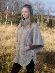 Sweater Cape Jacket - Wool with Batwing Sleeves - West End #X4368