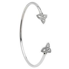 Bangle - Bracelet - Trinity Cuff Swarovski Crystal - Sterling - Shanore SW70