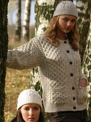 Sweater - Ladies - Cardigan - Natural White