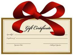 Gift Certificate - The Treasure Shop