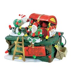 Department 56 - North Pole Village - Untangle the Christmas Lights- # 56374
