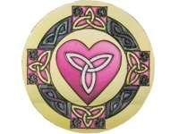Suncatcher - Celtic Heart - Round Shape