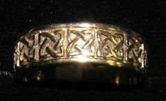 Wedding Band - Celtic - 10ct Yellow - O'Connor - 7