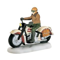 Department 56 - Snow Village - Harley Davidson - Ready for Road- # 58907